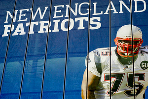 Huge Patriots banner from Wembley