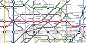 Alternative Tube Maps: US Routes And Interstates