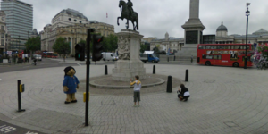 Google Street View: Multiple Paddington Bears In London