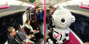 Pink Tube Train For Digital Switchover