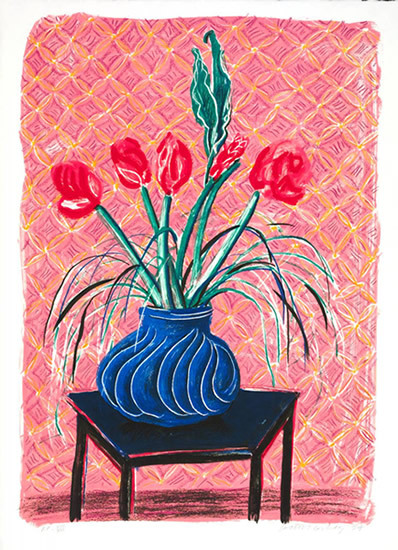 Amaryllis in Vase, 1984. Lithograph Paper and image 127.0 x 91.4 cm. Edition of 80