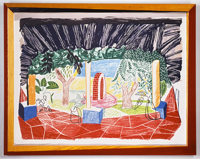 View of Hotel Well I, 1984-5. Lithograph in frame designed by the artist. Frame: 79.4 x 105.4 cm. Edition of 75