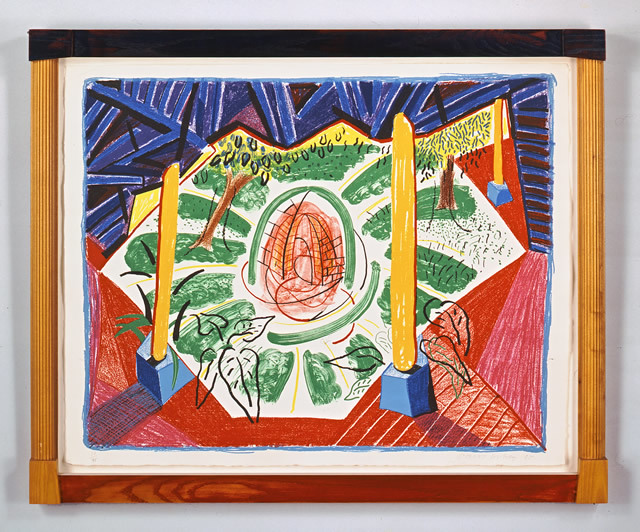 View of Hotel Well II, 1984-5. Lithograph in frame designed by the artist. Frame: 74.6 x 92.7 cm. Edition of 75
