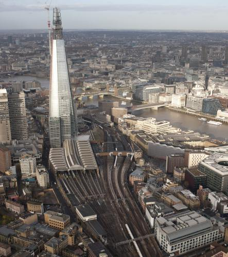 London Bridge station. Work is only just getting underway here; the rebuilt station will be finished in 2018