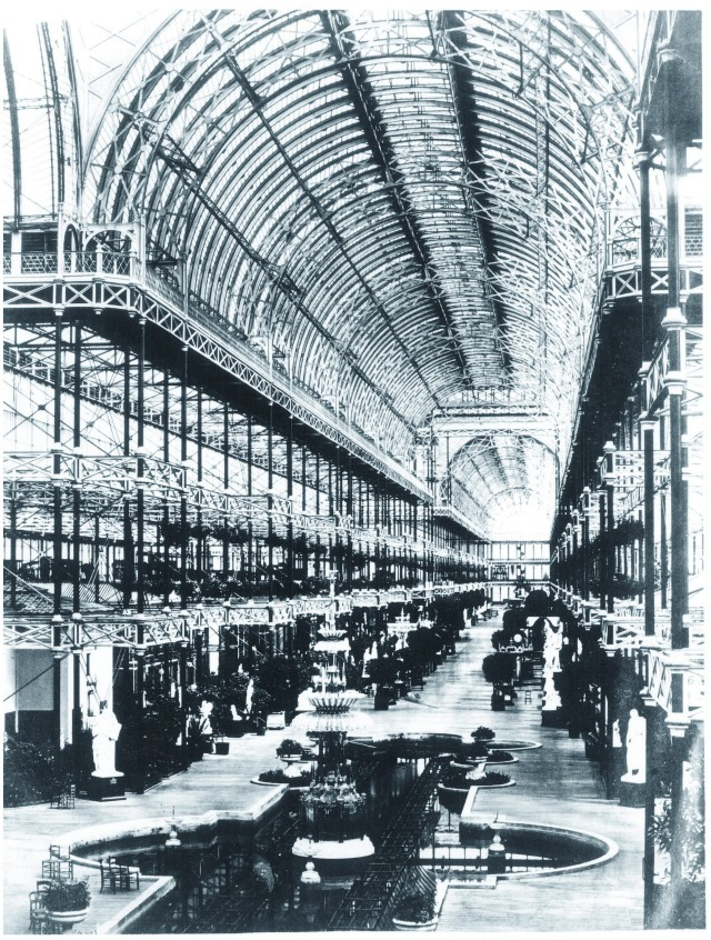 The interior of Crystal Palace in the 1860s