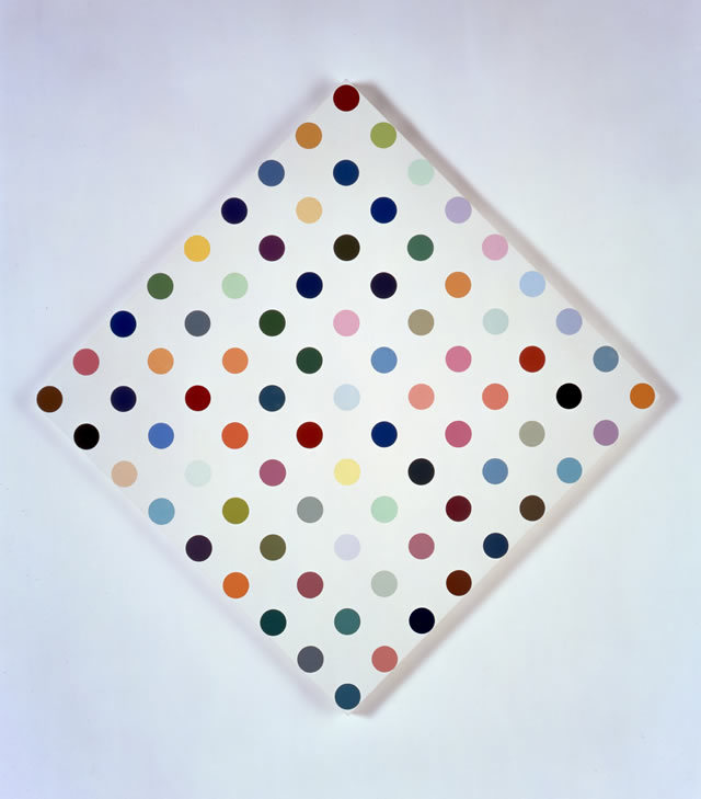 Damien Hirst Eucatropine, 2005 Household gloss on canvas 34 x 34 inches 86.4 x 86.4 cm Photographed by Prudence Cuming Associates © Damien Hirst and Science Ltd. All rights reserved, DACS 2011 Courtesy Gagosian Gallery