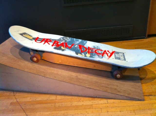 Off the rails...a skateboard coffin.