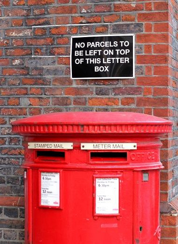 No parcels! By Peter Denton