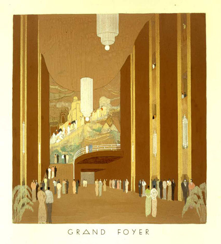 Design for International Music Hall and Opera House, Hyde Park Corner, London, c.1935