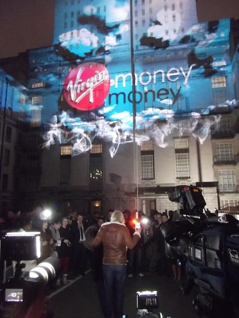 Virgin money senate house 3d projection