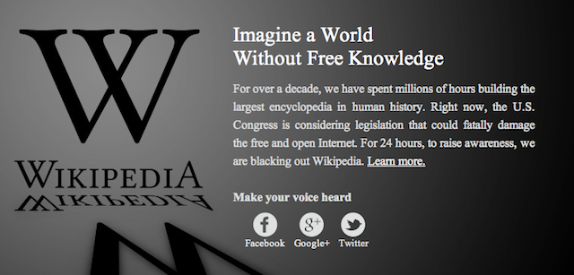 Wikipedia Blackout: Here's What You Need To Know About London