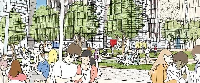 Artist's impression of the new public square