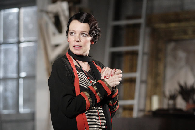 Olivia Colman wears wonderful costumes as the sexy Myra Arundel. Photo by Catherine Ashmore