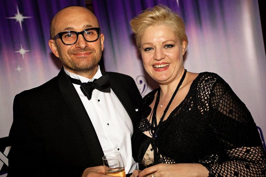 Winner Mat Ricardo with his wife Lesley. Their first date was 20 years before the awards
