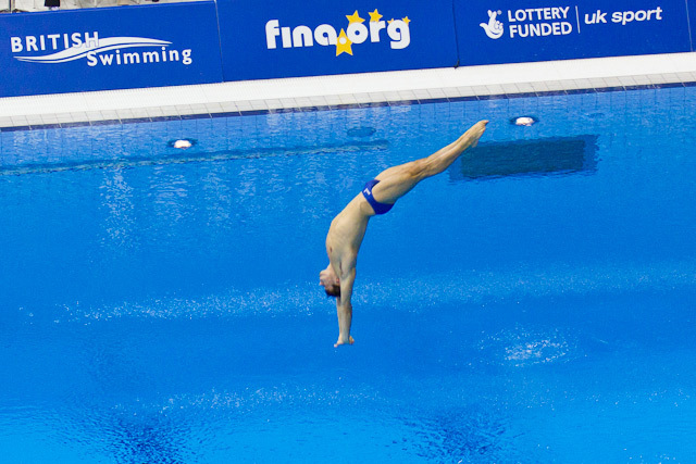 Diver in action