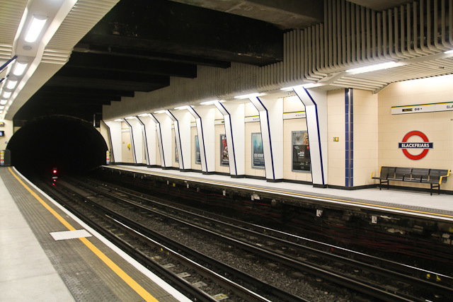 The western end of the platform