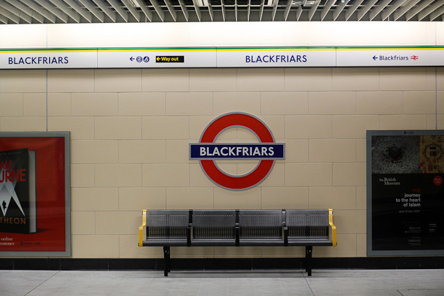 Blackfriars Tube Station Re-Opens
