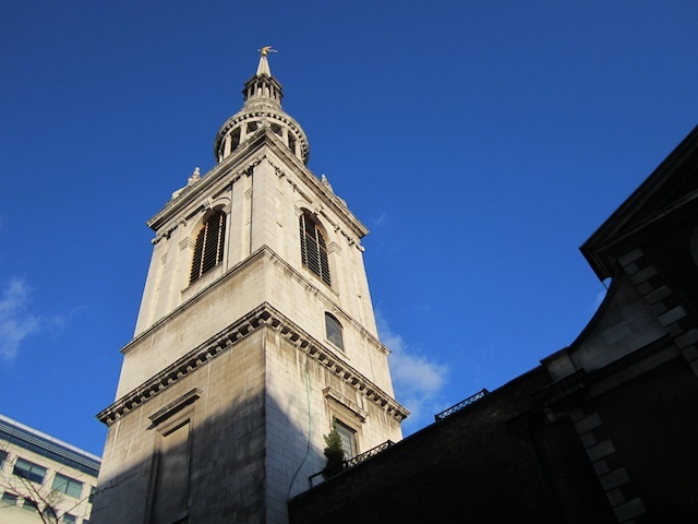 The spire of Bow Church.