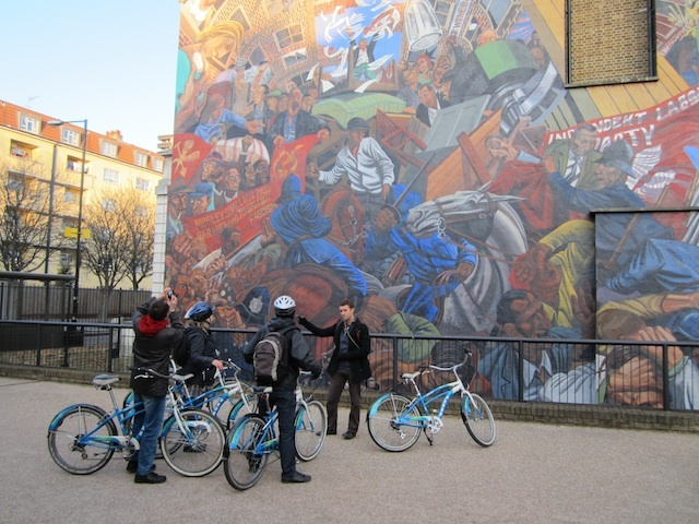 The Cable Street mural, depicting the famous Battle of Cable Street.
