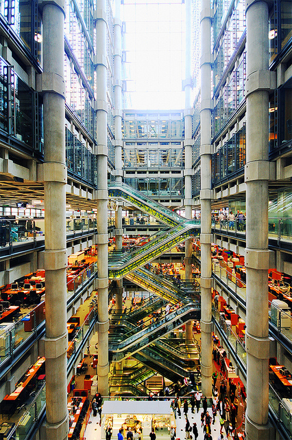 Inside Lloyd's of London, by bobaliciouslondon