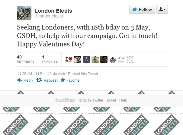 London Elects Seeks Soon-To-Be-18 Year Olds