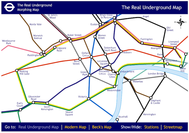 Alternative Tube Maps: Morphing Tube
