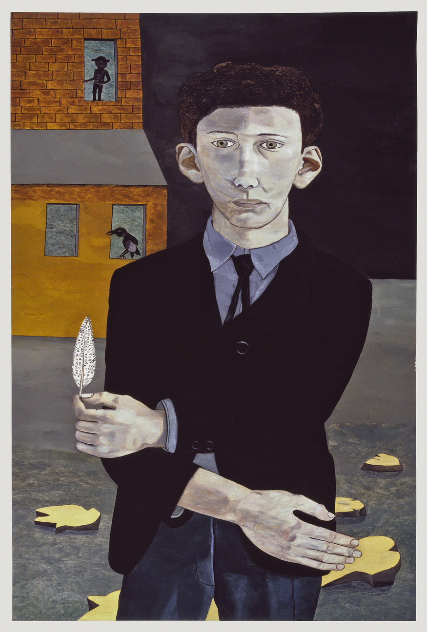 Man with a Feather (Self-portrait), 1943. Private Collection, Ireland © The Lucian Freud Archive. Photo: Courtesy Lucian Freud Archive