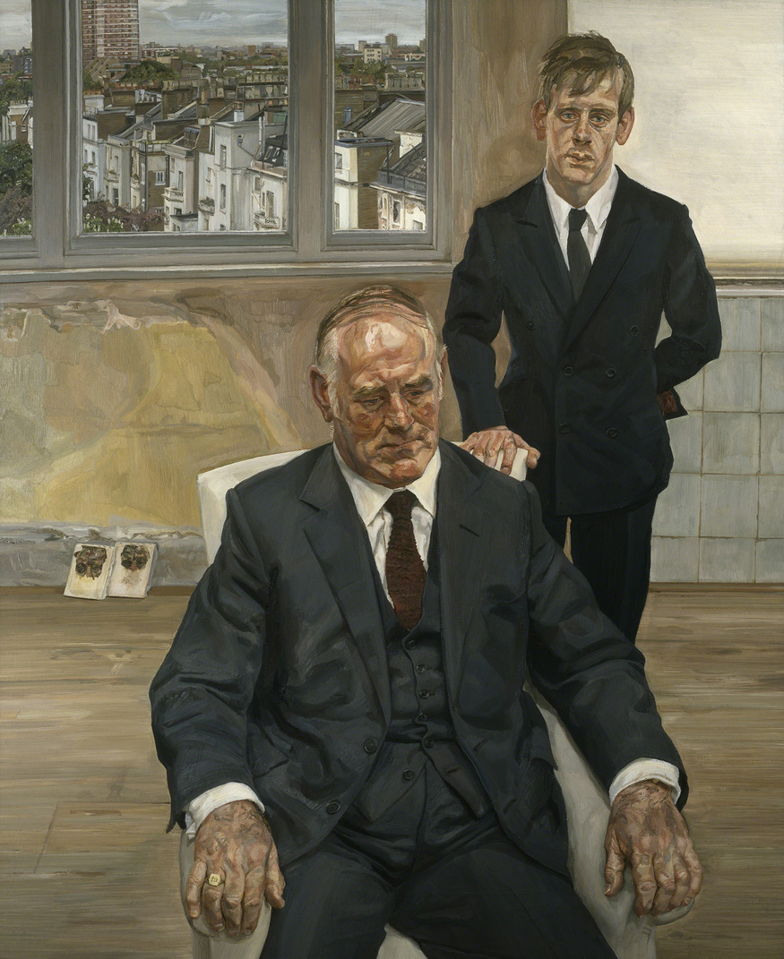 Two Irishmen in W11, 1984-5. Private Collection, Ireland © The Lucian Freud Archive. Photo: Courtesy Lucian Freud Archive