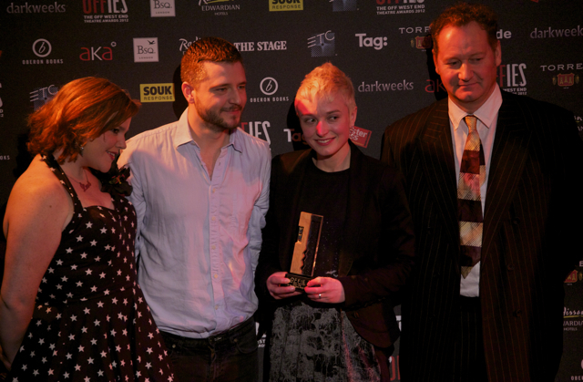 Dawn King (third from left), Most Promising New Playwright