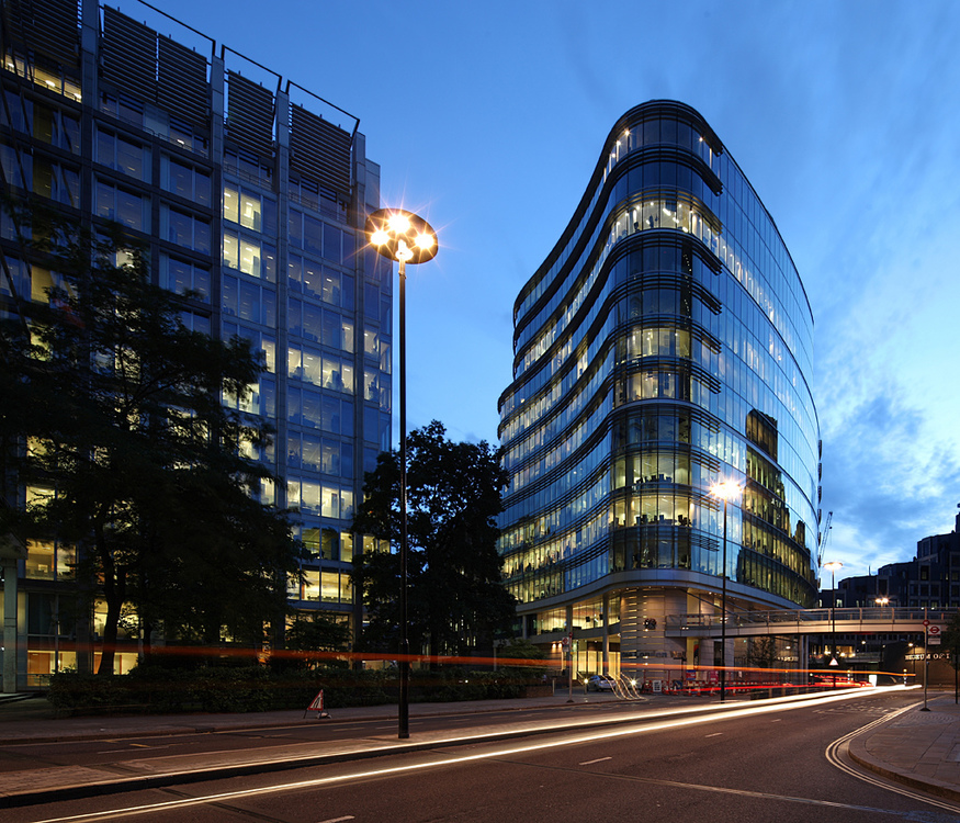 One London Wall, by David Bank