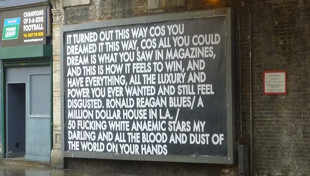 Shoreditch Billboards Covered In Poetry