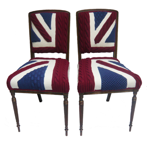 Pip and Pen are a pair of side chairs with varnished wood legs, which can also be used as dining chairs. £1,500