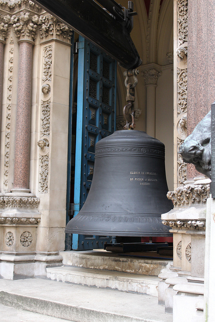 A new bell being lifted into St Peter upon Cornhill, by curry15