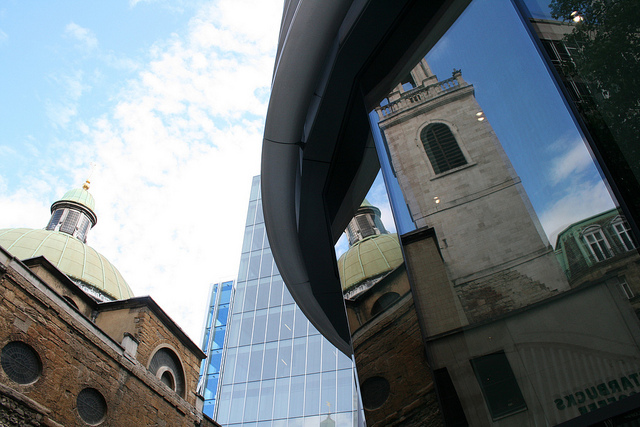 Reflected glory - St Stephen Walbrook by tezzer57