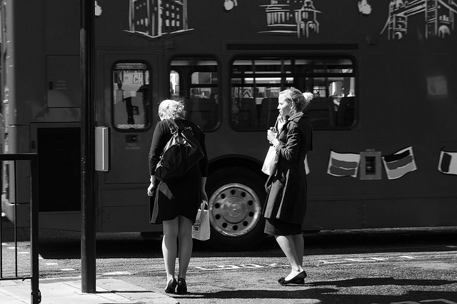 Waiting for the bus to pass, by Tom Spender