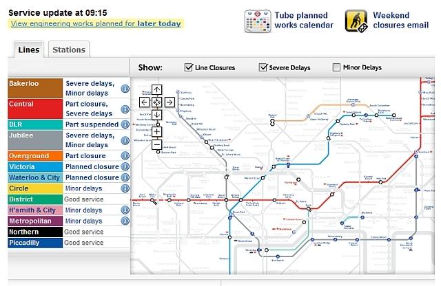 London Public Transport Freeze Up