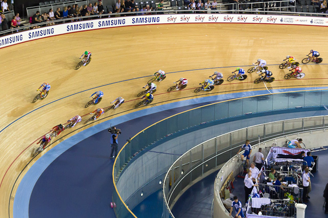 The men's omnium points race