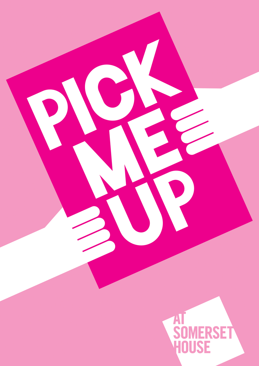 Anthony Burrill, Pick Me Up identity, 2012