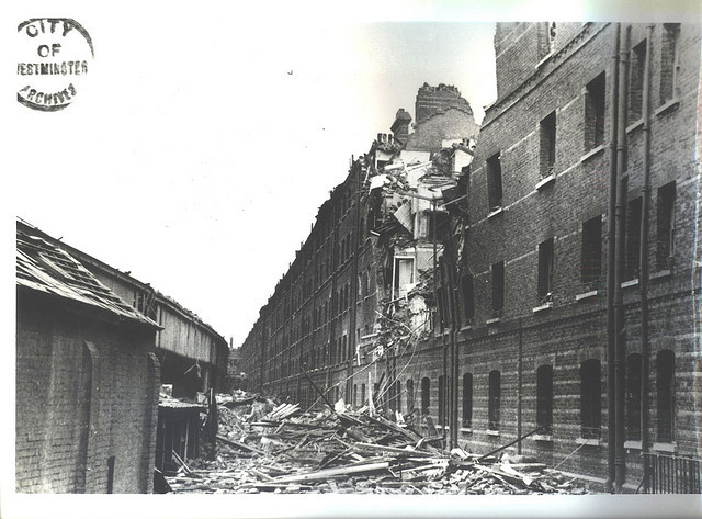 V-1 damage on Peabody Avenue, 1944