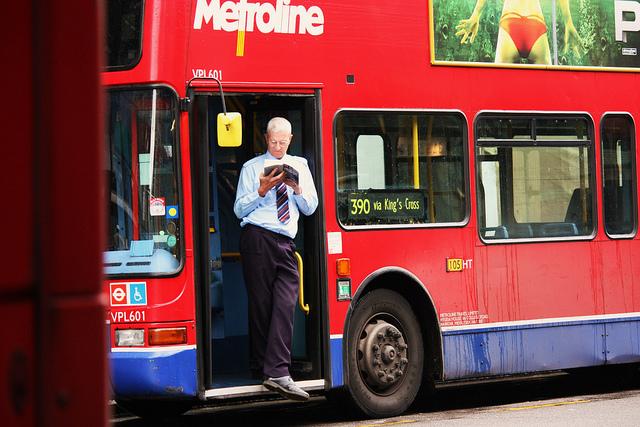 Bus Break, Notting Hill by Stephskimo