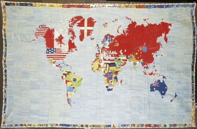 Alighiero Boetti, Mappa 1971-1972. Private collection © Alighiero Boetti Estate by DACS / SIAE, 2012, courtesy Fondazione Alighiero e Boetti