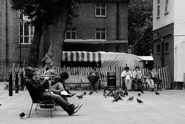 A typical London lunchtime, by Paul Steptoe Riley