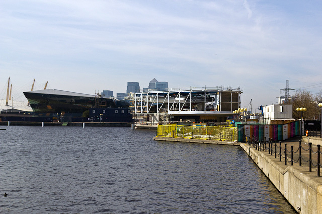 The cable car station at Royal Docks