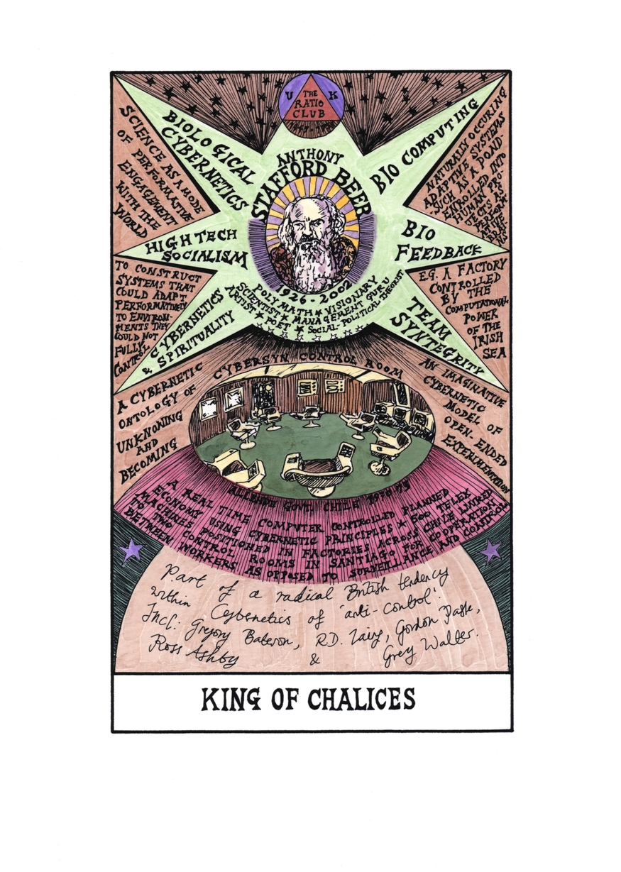 Suzanne Treister, Hexen 2.0. Tarot, King of Chalices, Stafford Beer