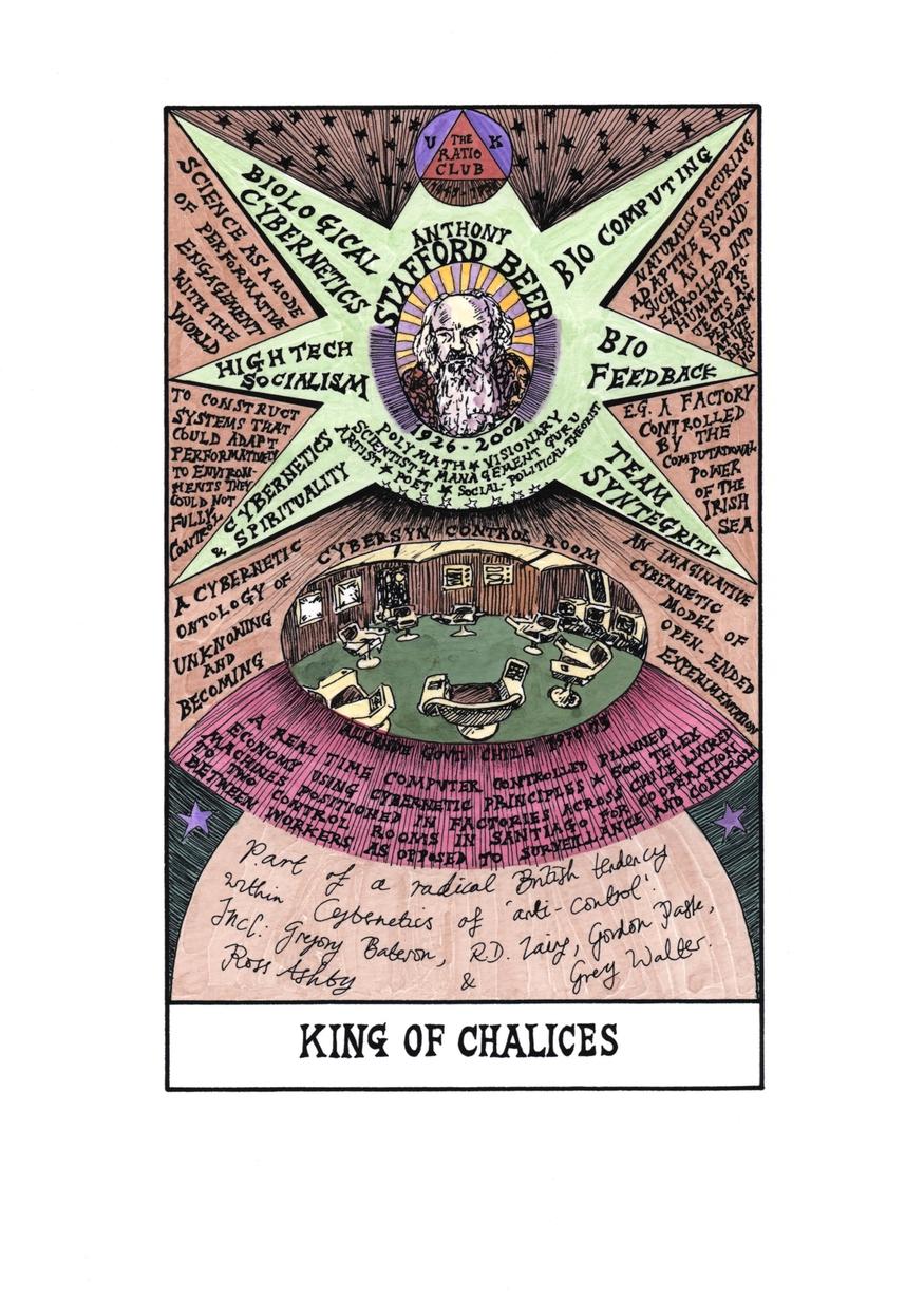 Suzanne Treister, Hexen 2.0. Tarot, King of Chalices, Stafford Beer