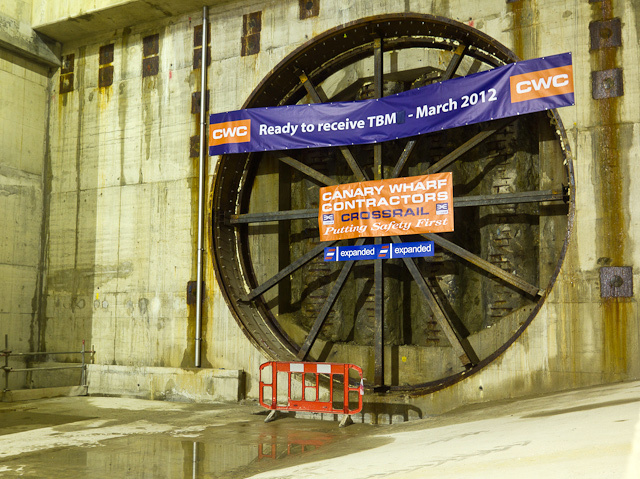 Awaiting the tunnel boring machine, which should break through this eastern wall next year.