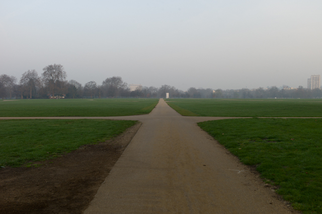 "Time: 06:23, Location: Hyde Park, Title: ""An Empty Path"""