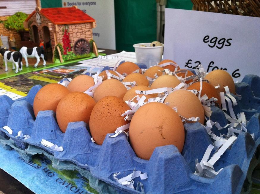 Eggs from Harrow Comunity Farm