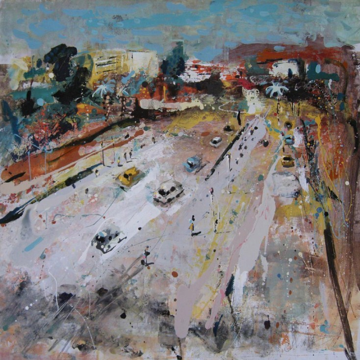 Andrew Hood, Rush Hour on the Cote d'Azur. Courtesy Panter and Hall.