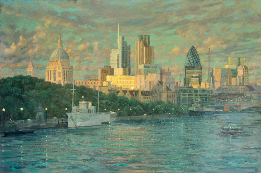 Pip Todd Warmouth 'View of St. Paul's and the City'. From Kings Road Gallery.